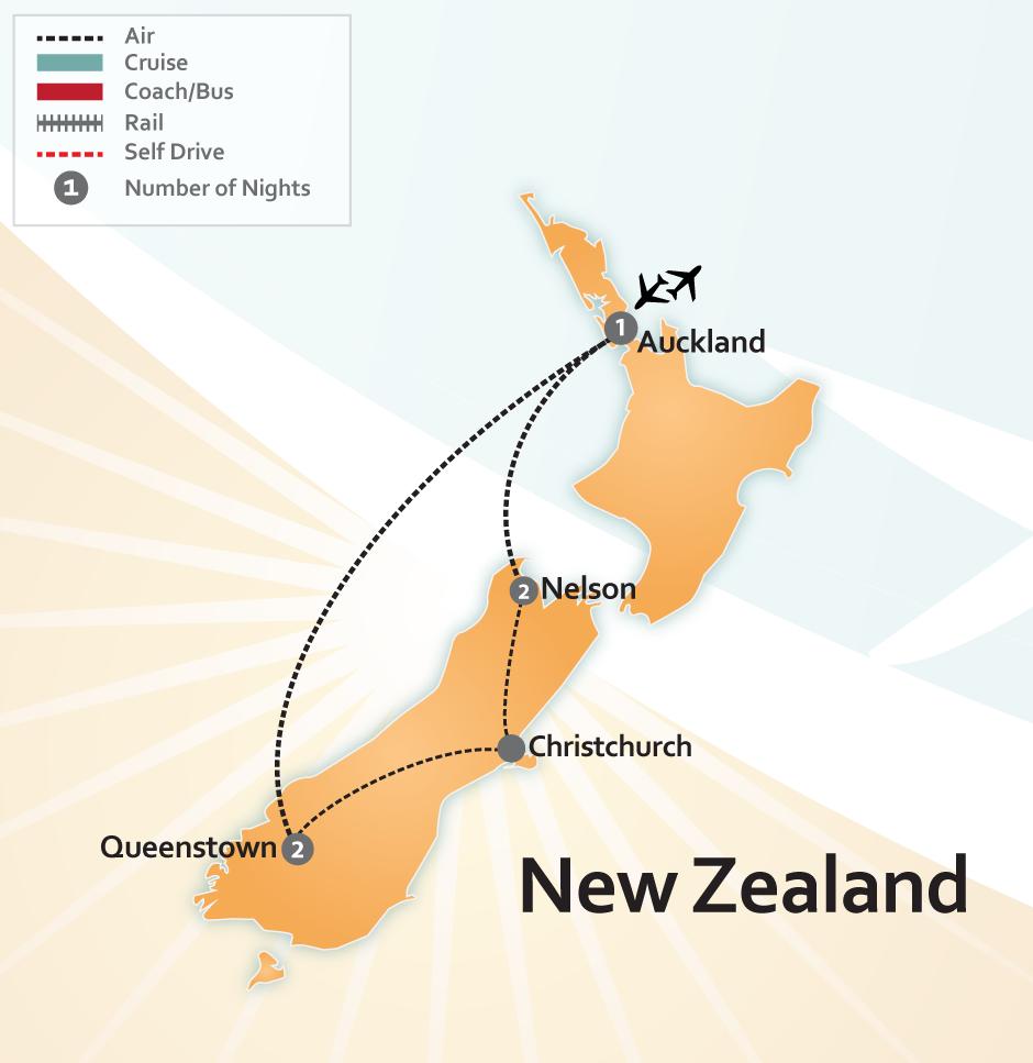 New Zealand's Amazing Nature Map